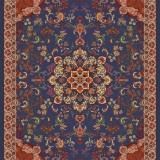 Oriental Floral Carpet Design -Illustration