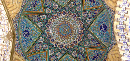 Tabriz - East Azerbaijan, Iran: Friday Mosque - dome decorated with turquoise tiles - photo by N.Mahmudova