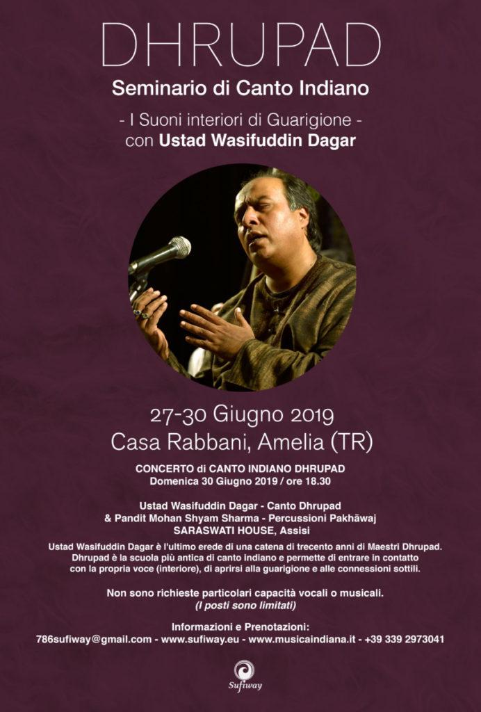 Seminario di Canto DHRUPAD con Ustad Wasifuddin Dagar: Amelia (TERNI) e Concerto ad Assisi